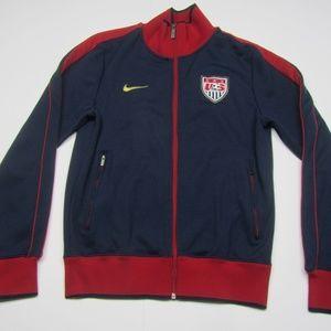 Nike Mens USA Soccer Track Jacket Blue Red Gold S